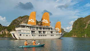 Paradise Luxury cruise boat, Halong Bay, Vietnam
